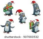 vector set of five funny...   Shutterstock .eps vector #507003532