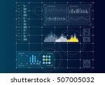 digital user interface . mixed... | Shutterstock . vector #507005032