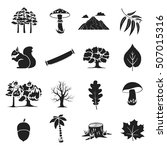 forest set icons in black style.... | Shutterstock .eps vector #507015316