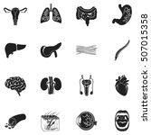 organs set icons in black style.... | Shutterstock .eps vector #507015358
