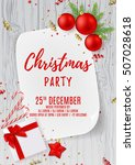 merry christmas party flyer.... | Shutterstock .eps vector #507028618