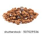 macro close up of chocolate... | Shutterstock . vector #507029536