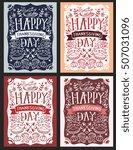 vector set of thanksgiving... | Shutterstock .eps vector #507031096