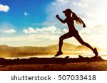 Silhouette Of Active Healthy...