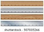 wooden ruler with stainless... | Shutterstock .eps vector #507035266