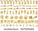 ribbon banner label gold vector ...   Shutterstock .eps vector #507039682