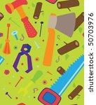 green tools pattern | Shutterstock .eps vector #50703976