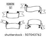 vintage ribbon banners  hand... | Shutterstock .eps vector #507043762