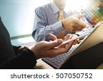business team present.... | Shutterstock . vector #507050752
