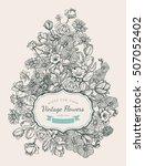 flower vintage styled sketch... | Shutterstock .eps vector #507052402
