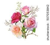 illustration of beautiful... | Shutterstock . vector #507053842