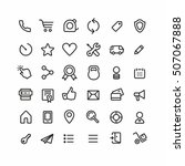 Thin Lines Web Icons Set  Line...