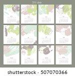 creative calendar. template...   Shutterstock .eps vector #507070366