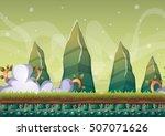 cartoon vector sky background... | Shutterstock .eps vector #507071626