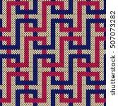 interlacing geometric lines in... | Shutterstock .eps vector #507073282