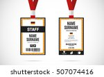 event staff id card set with... | Shutterstock .eps vector #507074416