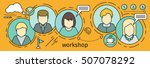 workshop horizontal vector... | Shutterstock .eps vector #507078292