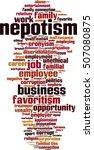 nepotism word cloud concept.... | Shutterstock .eps vector #507080875