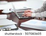close up of business woman... | Shutterstock . vector #507083605