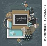 framework for invitation or... | Shutterstock .eps vector #507083746