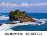 tanah lot temple in bali... | Shutterstock . vector #507089302
