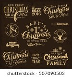first christmas as family  baby ... | Shutterstock .eps vector #507090502