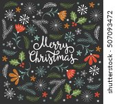 christmas illustration ... | Shutterstock .eps vector #507093472