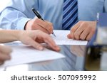 bookkeepers or financial... | Shutterstock . vector #507095992