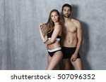 stunning couple in underwear... | Shutterstock . vector #507096352