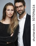 stunning couple in spectacles ... | Shutterstock . vector #507096616