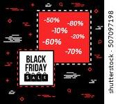 abstract vector black friday... | Shutterstock .eps vector #507097198