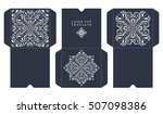 vector wedding card laser cut... | Shutterstock .eps vector #507098386