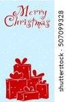 greetteng card with gift   Shutterstock .eps vector #507099328