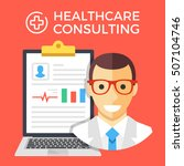 healthcare consulting concept.... | Shutterstock .eps vector #507104746