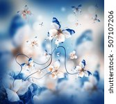 amazing butterfly fairy of... | Shutterstock . vector #507107206
