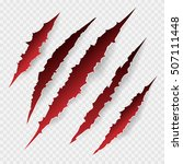 scratches isolated on... | Shutterstock .eps vector #507111448