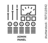 admin panel thin line  icon...
