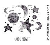 Stars And Moon Greeting Card....