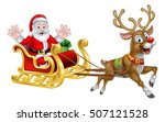 santa claus cartoon character... | Shutterstock .eps vector #507121528