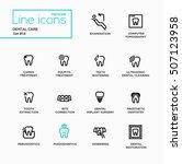 dental care   single line... | Shutterstock .eps vector #507123958