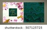 set of trendy vector wedding... | Shutterstock .eps vector #507125725
