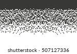falling pixel vector. mosaic... | Shutterstock .eps vector #507127336
