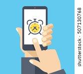 alarm clock on smartphone...   Shutterstock .eps vector #507130768