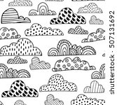 seamless pattern with doodle... | Shutterstock .eps vector #507131692
