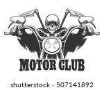 motor club emblem death on a... | Shutterstock .eps vector #507141892