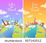travel to world. road trip.... | Shutterstock .eps vector #507143512