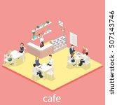 isometric interior of sweet...   Shutterstock .eps vector #507143746
