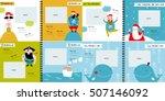 vector photo book with cartoon... | Shutterstock .eps vector #507146092