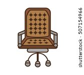office chair isolated icon... | Shutterstock .eps vector #507154966