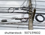 High Voltage Power Pole With...